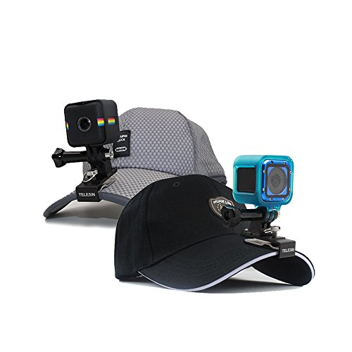TELESIN Multi Functional Aluminum Alloy Cap Clip Baseball Hat Clamp Mount Backpack Clip for GoPro Hero 2018, Hero 6/5 Black, Hero 4, Hero 3, Hero 4 and Hero 5 Session, Fusion, Xiaomi YI, SJCAM Cameras