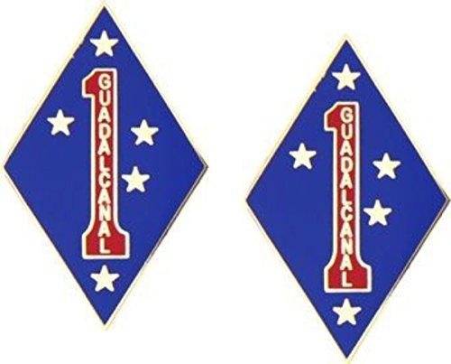 MilitaryBest 1st Marine Division - 5/8 Lapel Pin 2 ()