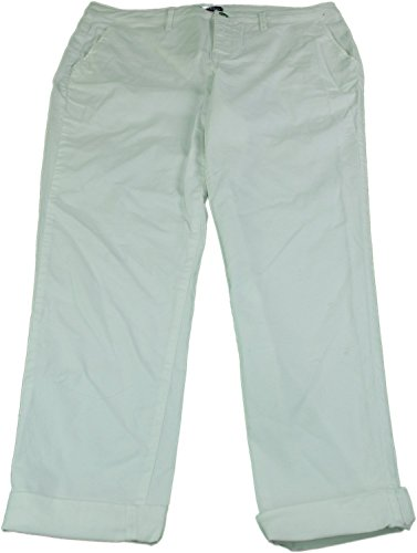 Bandolino Jeans Ladies Size 4 Felicia Style Roll Cuff Casual Jeans White (Bandolino Womens Roll)