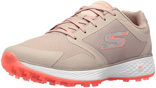 Skechers Performance Women's Go Golf Birdie Golf Shoe, Natural/Coral, 7 M  US- Buy Online in Guernsey at guernsey.desertcart.com. ProductId : 60251898.