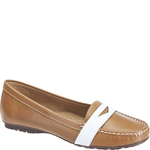 Sebago Leather Penny para White Tan Mujer Meriden Mocasines vnT4rvZ