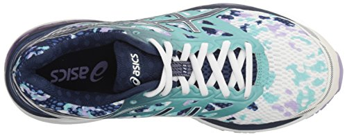 Pictures of ASICS Women's Gel-Cumulus 18 running Shoe Asics Blue/Silver/Safety Yellow 2