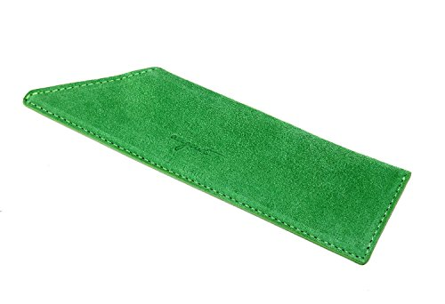 (AUGUST GROOMING Soft Suede Case for Luxury Comb (Vanity, Green Suede))