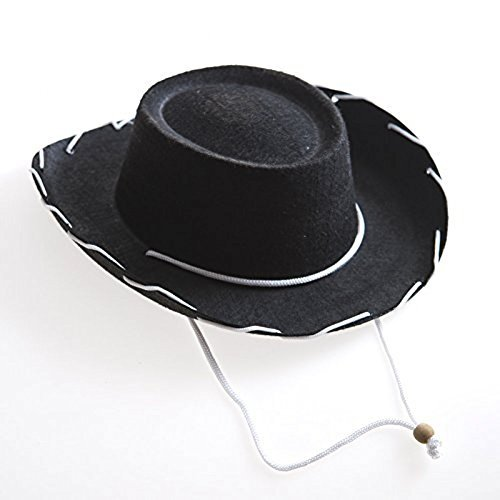 Children's Black Felt Cowboy Hat