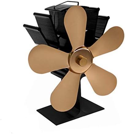 暖炉のファン薪ストーブファン静音動作ウッド/ログバーナー/暖炉、エコフレンドリーと効率的な熱,真鍮