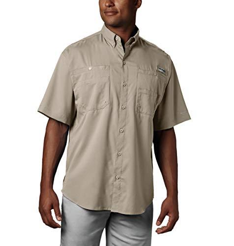 Columbia Men's Tamiami II Short Sleeve Fishing Shirt Fossil LG