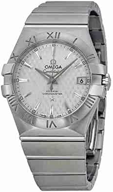 Omega Men's 'Constellation' Swiss Automatic Stainless Steel Dress Watch, Color:Silver-Toned (Model: 12310352002002)