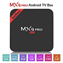 2017 Model Leelbox MXQ Pro Android 6.0 TV BOX 4K/S905X/64Bit/1+8GB/2.4G Wifi/100M android tv box Support Full HD /H.265