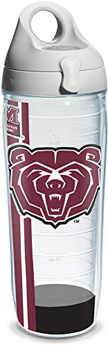 Tervis 1205093 Missouri State University Colossal Wrap Individual Water Bottle with Gray lid, 24 oz, Clear ()