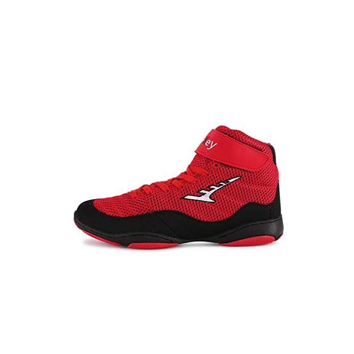 Hy Scarpe Casual Da Uomo scarpe Ginnastica Alte Con Tomaia E Autunno scarpe Sportive Comfort trekking scarpe Ciclismo Rosso giallo colore Un Dimensione 33