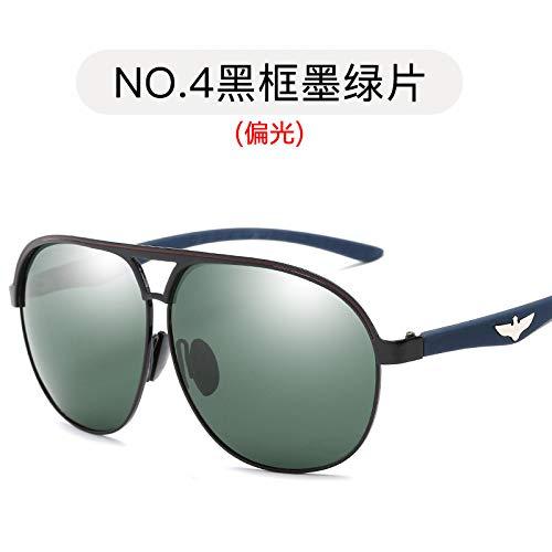 Gafas de Hombres Estilo Espejuelos frame Sol para polarizadas Sol Azul de Gafas Pistola Marco de Aviador Black metálicas Sol Burenqiq dark de Gafas de polarizadas Hielo Moda green xRzTI8wq