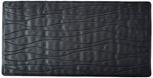 - Carnation Home Fashions Large 18-Inch by 36-Inch Rubber Bath Tub Mats, Black