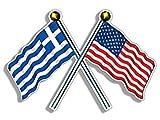 MAGNET Crossed Poles USA  and  GREECE Wa
