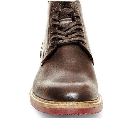 ... Steve Madden Mens Bronsen Boot Brunt Skinn ...