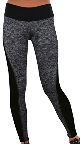 XiaoTianXin-women clothes XTX Womens Breathable High Waist Stretch Contrast Color Skinny Legging Pants