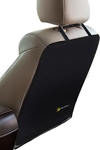 Price comparison product image Tike Smart Luxury Clean-Edge Kick Mat - Seat Back Protector and Seat Cover with Invisible Strap and Stiff Edging - Black (1 Mat)