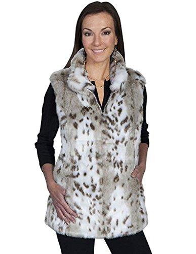 Scully Women's Siena Reversible Faux Leather/Fur Vest Cre...
