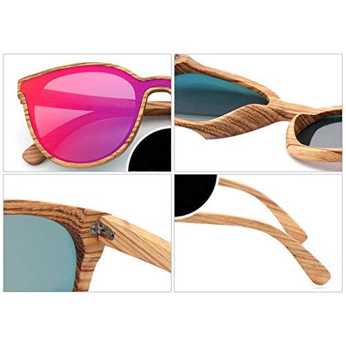 Polarizadas Azul Gafas color Moda Pieza Y Mujeres Green Madera De Sol Bambú Las Sola pOxSqp8rw