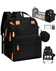 Diaper Bag Backpack with Changing Station –|Foldable Changing Pad| Waterproof|Multifunction Travel Backpack for Mom Dad