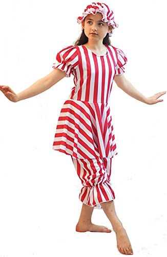 Dance Show-Sea Side-Victorian-Edwardian Red or Blue BATHING BELLE All Ages