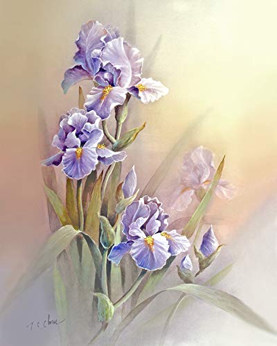 with Faded Background print of Watercolor Painting - Nature, Flowers, Peaceful Gifts, Gift for Ladies ()