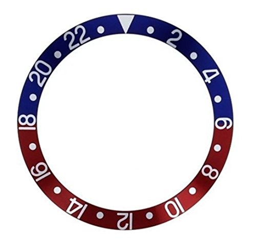 GMT Pepsi Aluminium Insert for Bezel from Scuba Diver SKX Watches Seiko Old Model 6309/7002/7S26(SKX) Divers - Gmt Bezel Insert