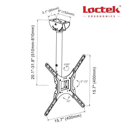Loctek Cm1 Adjustable Tilting Wall Ceiling Tv Mount Fits