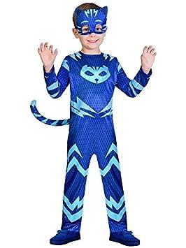 DISBACANAL Disfraz Gatuno PJ Masks para niño - Único, 5-6 años