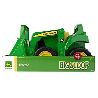 John Deere Big Scoop Tractor Toy with Loader, 15-Inch, Multi: Toys & Games
