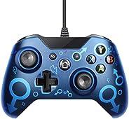 JINQII Controlador com fio para o Xbox One Joysticks Gamepad, Controlador Gamepad com fio USB para Xbox One/S/