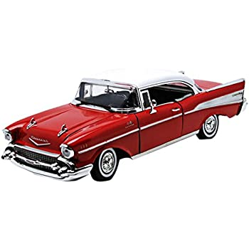 Amazon.com: Motormax 1957 Chevy Bel Air Hard Top 1/18 Diecast Model ...