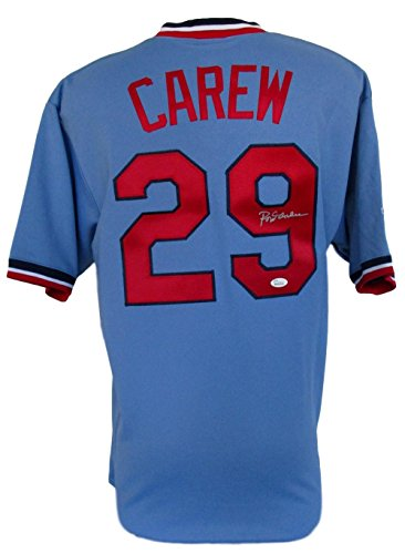 Rod Carew Signed Minnesota Twins Majestic Jersey Size L JSA ITP Rod Carew Minnesota Twins