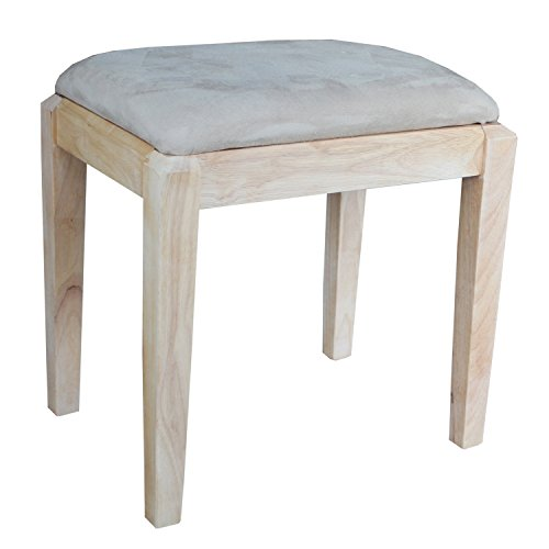 - International Concepts Unfinished Vanity Bench, Unfinished