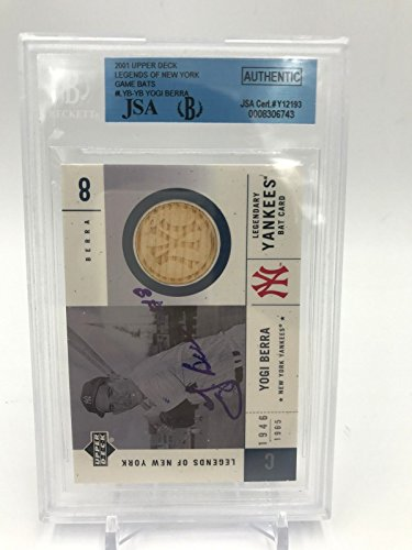 Berra Signed Autographed Game Used Bat Baseball Card BGS (Upper Deck Used Baseball Cards)