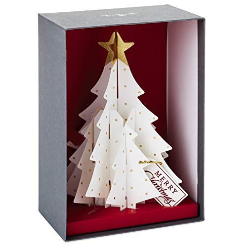 Hallmark Paper Craft Christmas Boxed Cards, Pop Up Christmas Tree (5 Cards with Envelopes) (Tree Boxed Christmas Cards)