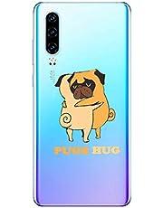 Oihxse Transparente Funda para Huawei Mate 8 Ultrafina Silicona Suave TPU Carcasa Interesante Perro Patrón Flexible Protectora Estuche Antigolpes Anti-Choque (A9)
