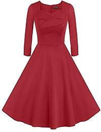 ACEVOG Vintage 1950's Spring Garden Party Picnic Dress Party Cocktail Dress