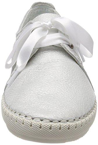 Tamaris Damen 23640 Sneaker Weiß (Offwht Met.