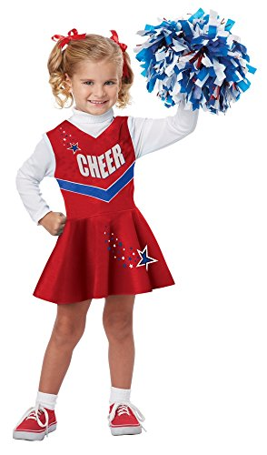 Football Halloween Costumes Toddler (California Costumes Classic Cheerleader Costume, One Color, 3-4)