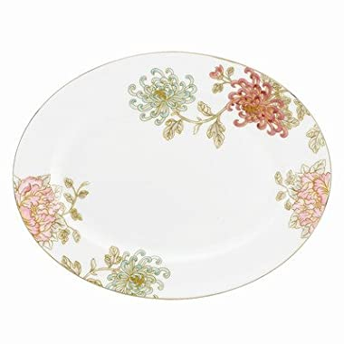 Lenox Marchesa Painted Camellia Oval Platter, 13-Inch