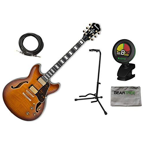 Ibanez AS93FM VLS Expressionist Violin Sunburst Hollowbody Guitar w/Tuner, Stan