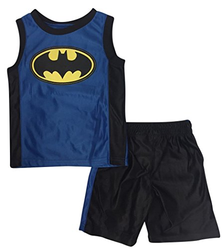 (DC Comics Boys' 2 Piece Batman Dazzle Short Set (18 Months))