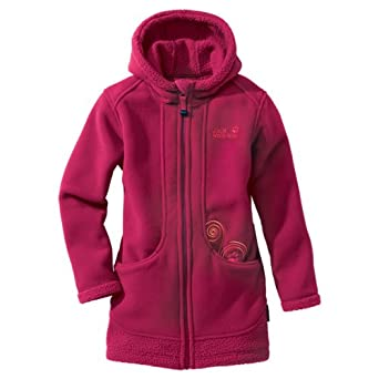 the latest 00676 565bb Jack Wolfskin Mädchen Fleecemantel Hooded Pumori Coat ...
