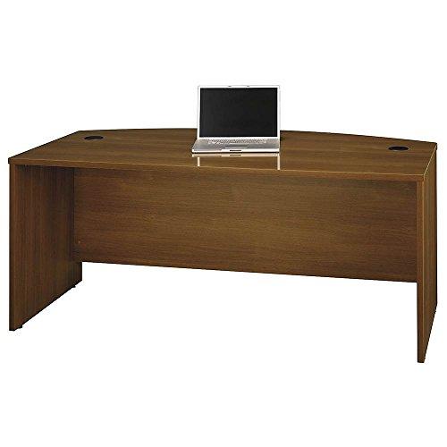 Bush Business Furniture Series C 72W x 36D Bow Front Desk in Warm Oak