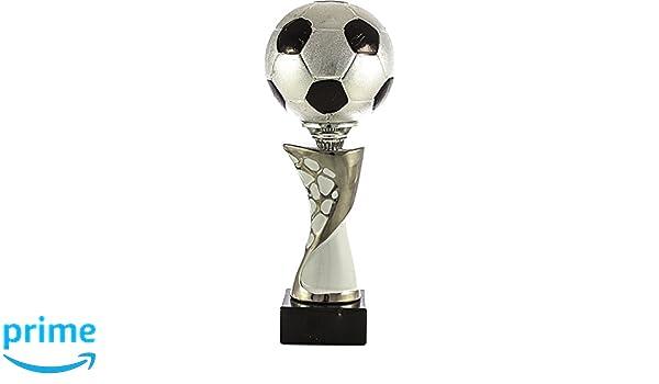 Art-Trophies TP393 Trofeo Deportivo Balón De Fútbol, Plata, 31 cm ...