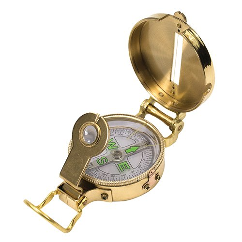 Brass Compass - UST Heritage Lensatic Compass with Lightweight Brass Construction for Camping, Hiking, Backpacking, Hunting and Outdoor Survival