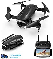 Foldable Drone with 720P HD Camera for Adults, FPV WiFi RC Quadcopter, 120° Wide-Angle Live Video Camera, Altitude Hold, APP