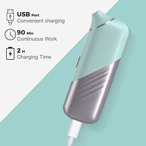 Visual Blackhead Remover,Pore Vacuum Blackhead Remover with Camera Rechargeable with 3 Speeds Adjustment and 4 beauty Heads Blackhead Suction Tool
