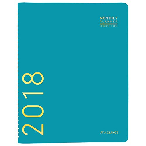 Tabbed Monthly Calendar (AT-A-GLANCE Monthly Planner, January 2018 - December 2018, 8-7/8
