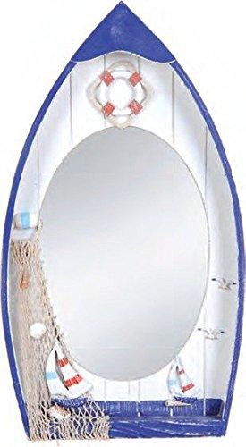 nautical boat shaped framed mirror